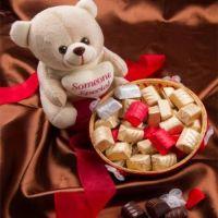 Chocolate Basket With Teddy