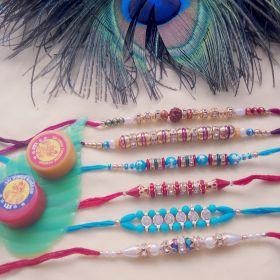 Multicolor Pearl Beads Rakhi