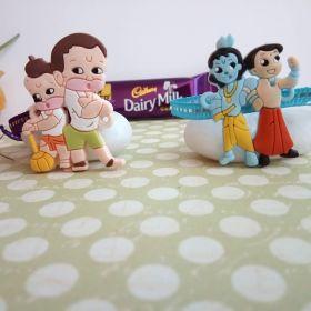Cartoon Characters Twin Rakhi For Kids