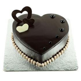 Chocolate Hearts Cake