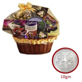 Chocolate + 10 gram silver coin