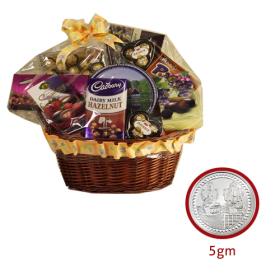 Chocolate + 5 gram silver coin