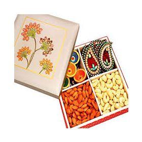 Dry Fruits With Diyas