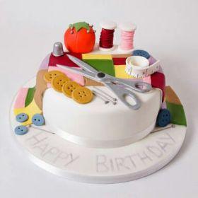 Tailor Theme Cake