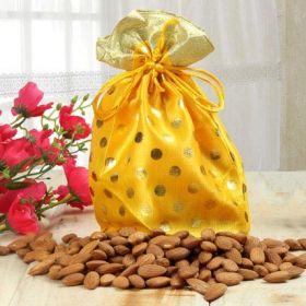 Almond With Designer Potli