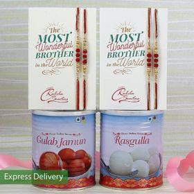Sweet Delight Rakhi Combo