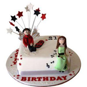 Star On Cake