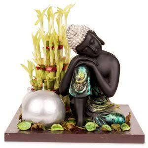 Budhha With Lucky Bamboo