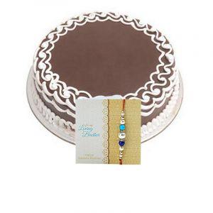 Rakhi & Half Kg Chocolate Cake