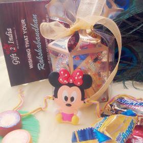 Mini Mice Rakhi For Kids With Chocolate Box