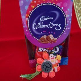 Kids Character  Rakhi With Chocolate