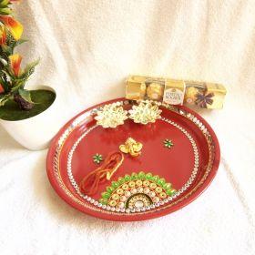 Puja Thali With Ferrero Rocher