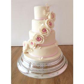 Flowing Pink Roses Cake 5 kg