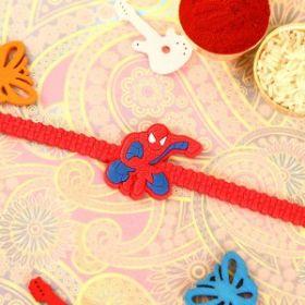 Amazing Spiderman Wrist Band Rakhi for Kids