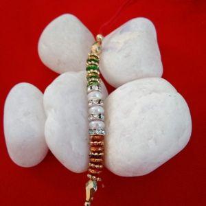 Multicolor Pearl Stone Rakhi