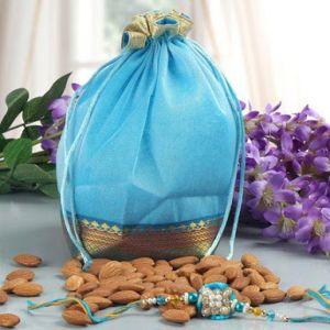 Rakhi & Basket full of  Almonds