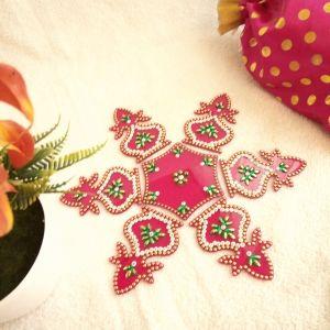 Diwali decorative acrylic rangoli