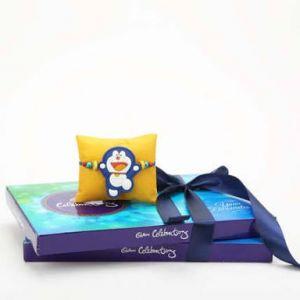 Doremon Kids Rakhi with Cadbury Celebration Chocolate Pack