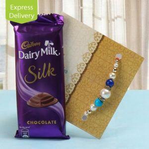 Joyful Pack Of Chocolate And Rakhi