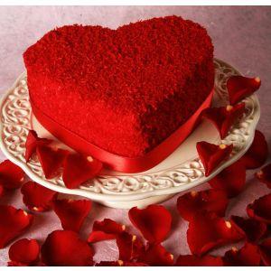 Red Velvet Heart Cake